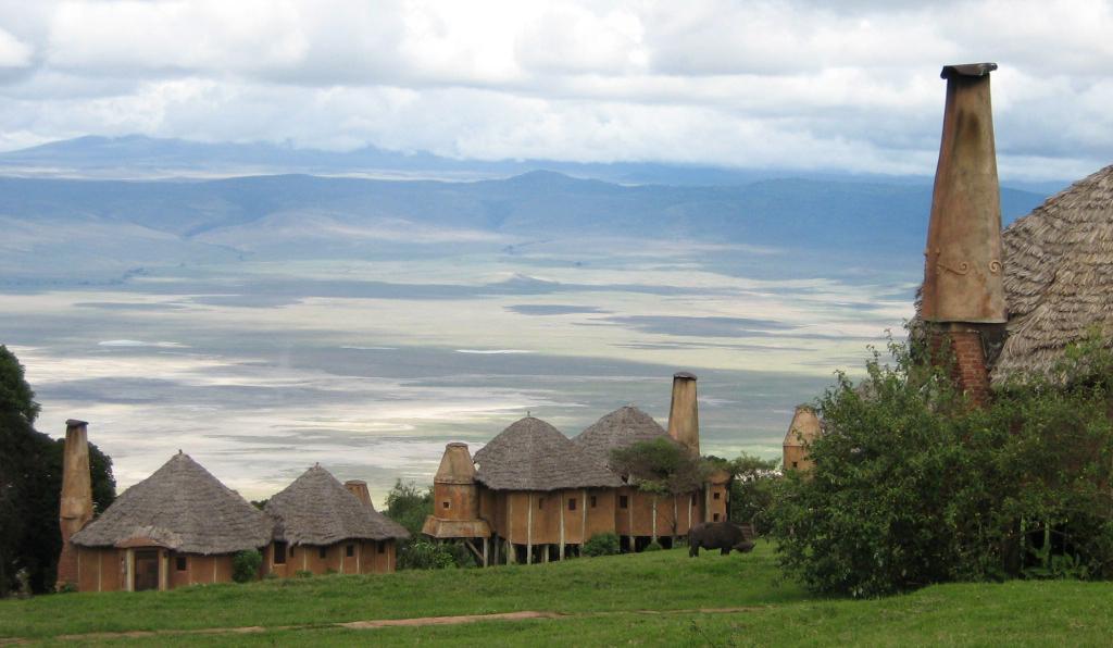 View of the Ngorongoro Crater from Ngorongoro Crater Lodge