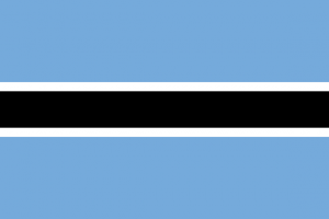The official flag of Botswana
