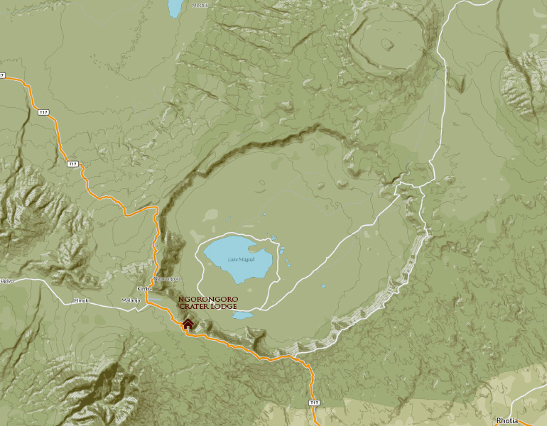 Ngorongoro Map