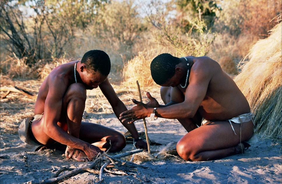 A visit to the Bushmen are one of the attractions in Botswana