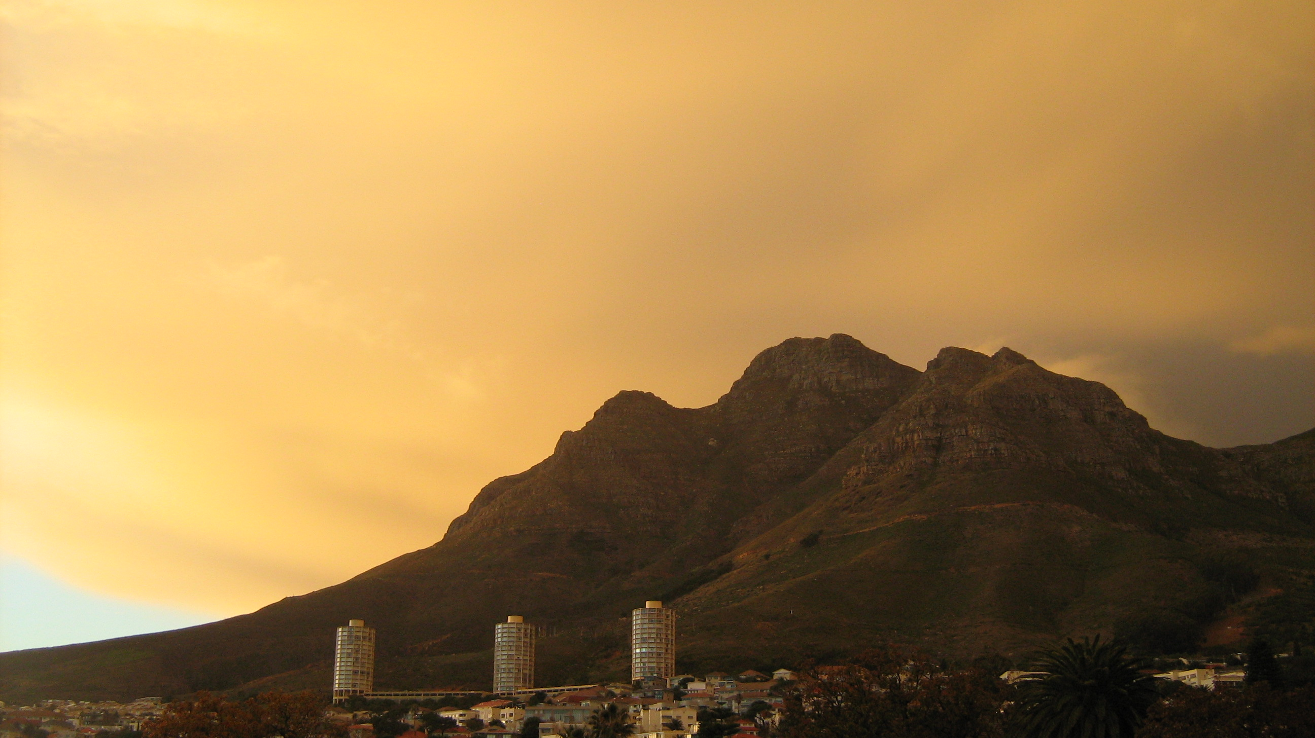 Table Mountain after the rain