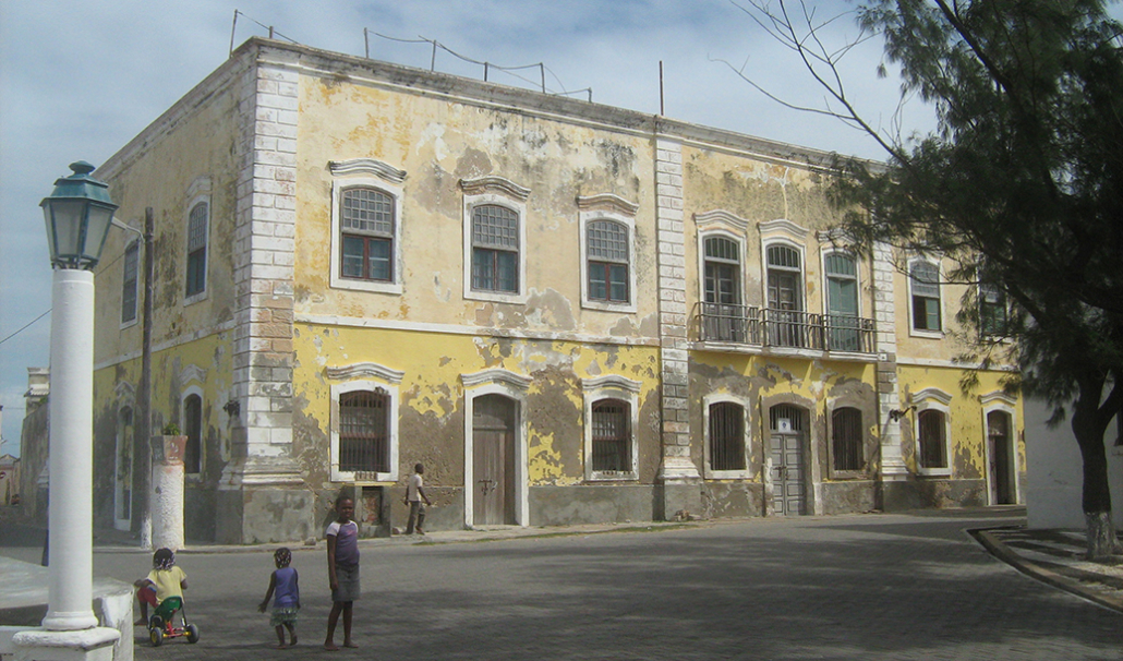 Old buildings of the city