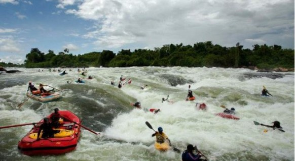 White water rafting in Jinja on the Nile