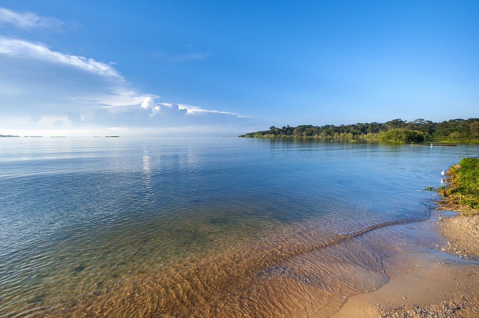 Clear waters of Lake Victoria